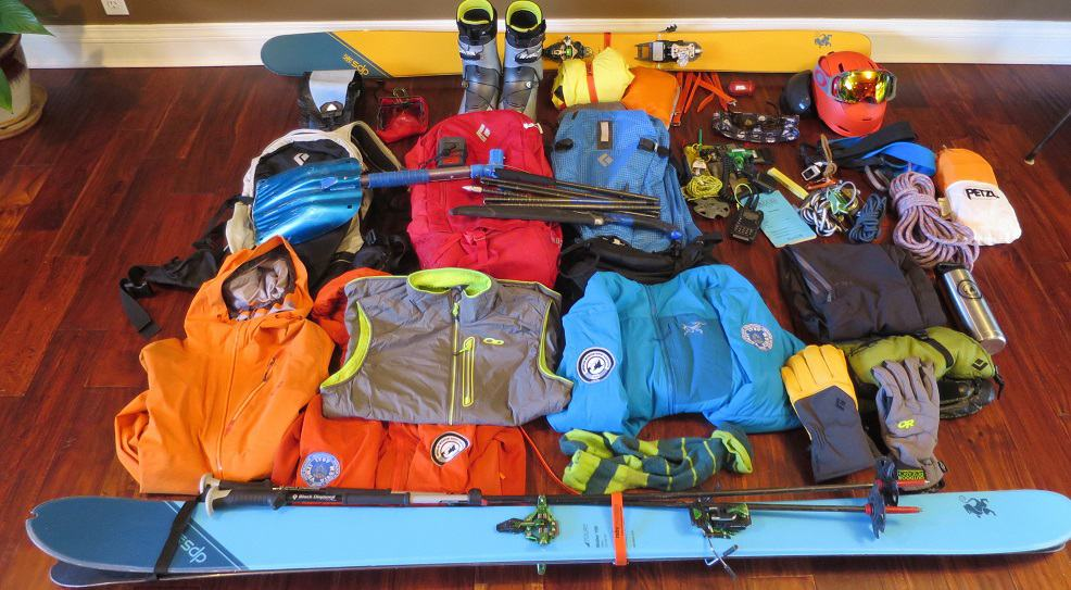 Things to pack when planning to ski backcountry