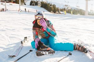 knee injuries sustained during a skiing